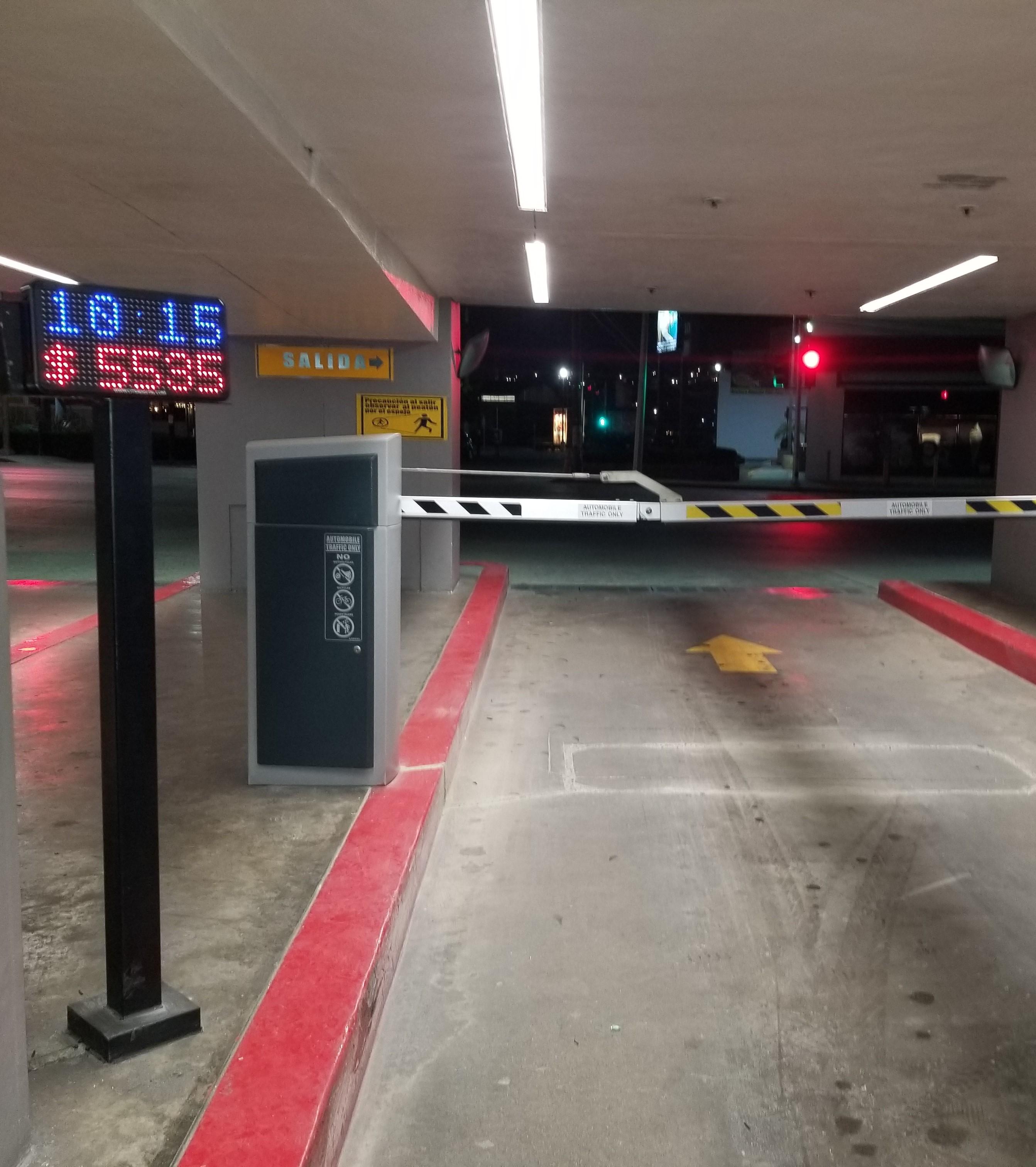Display de tarifas para estacionamientos